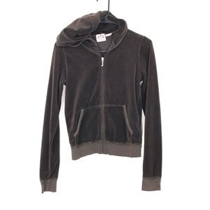 Juicy Couture brown velour jacket size M